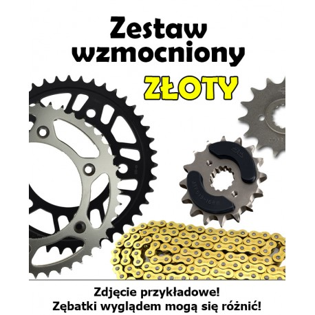 YAMAHA YZ 125 2005-2017 ZESTAW NAPĘDOWY DID WZMOCNIONY ZŁOTY BEZORING