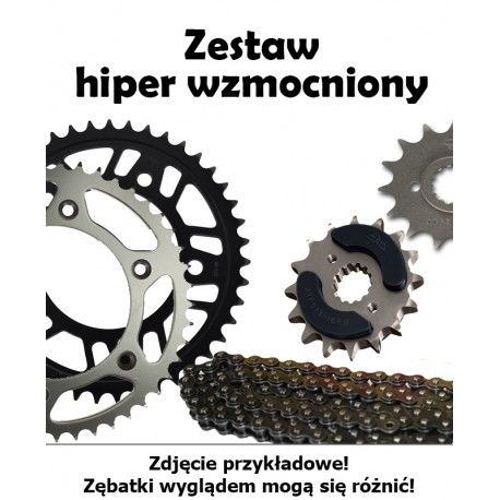 HONDA XL 650V TRANSALP 2001-2007 ZESTAW NAPĘDOWY DID HIPER WZMOCNIONY