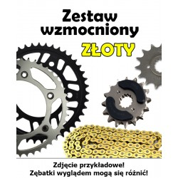 KAWASAKI KLX 250 2006-2007 ZESTAW NAPĘDOWY DID WZMOCNIONY ZŁOTY